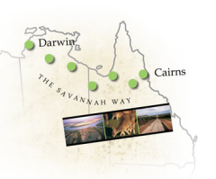 8-Day Savannah Way Tour (Cairns to Darwin / Darwin to Cairns)